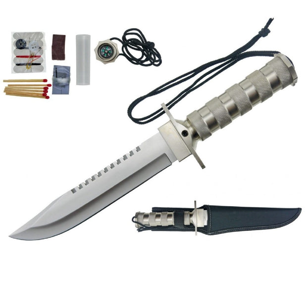 Impulse Product Survival Fixed Blade 7.5 in in Silver Blade