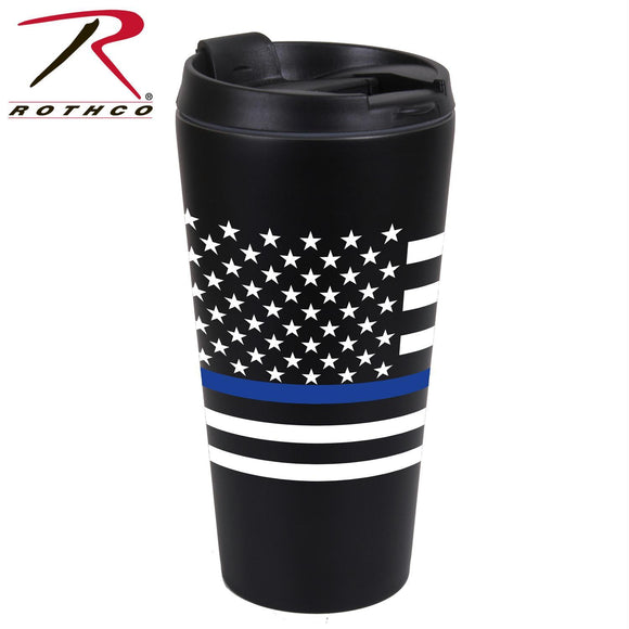 Rothco Thin Blue Line Flag Travel Mug