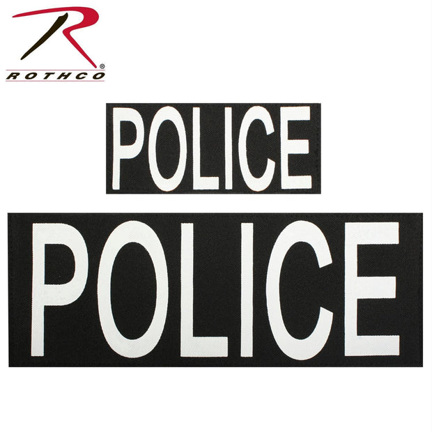 Rothco Police Patch Set of Two w- Hook Back