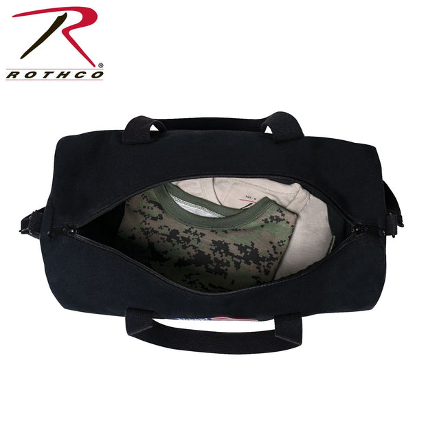 Rothco U.S. Flag Canvas Shoulder Duffle Bag