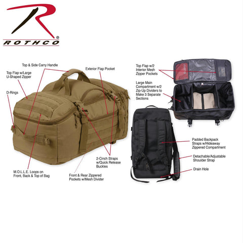 Rothco 3-In-1 Convertible Mission Bag