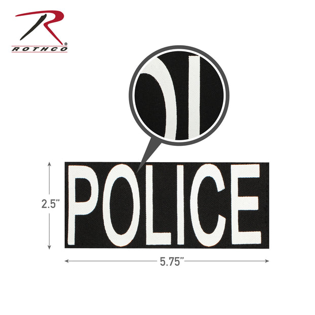 Rothco Police Patch With Hook Back