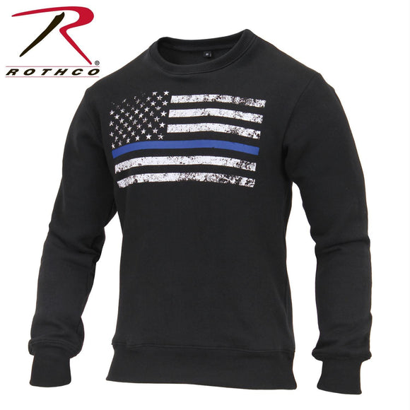 Rothco Thin Blue Line Flag Crew Neck Sweatshirt