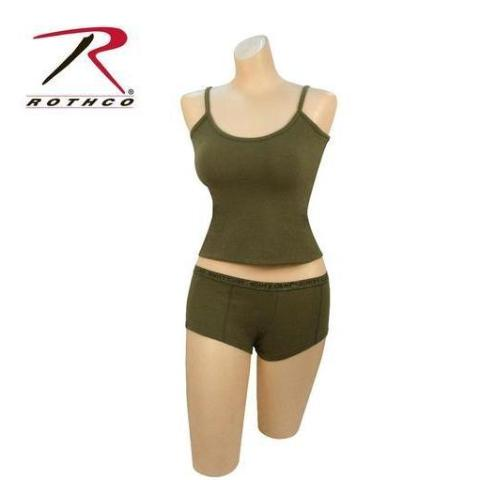 "Rothco Olive Drab ""Booty Camp"" Booty Shorts & Tank Top Top XL"