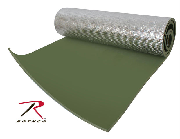 Rothco Thermal Reflective Od Sleeping Pad W- Ties