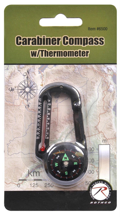 Rothco Carabiner Compass-Thermometer