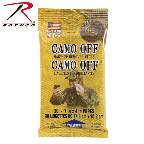 Rothco Pre-moistened Face Paint Remover Wipes