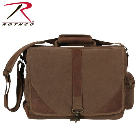 Rothco Vintage Canvas Urban Pioneer Laptop with Leather Accents