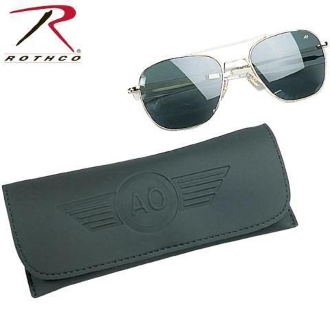 best tactical and police AO Eyewear 55MM Polarized Pilot Sunglasses Gold