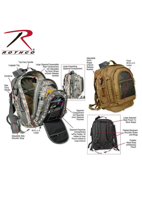 best Rothco Move Out Tactical/Travel Backpack