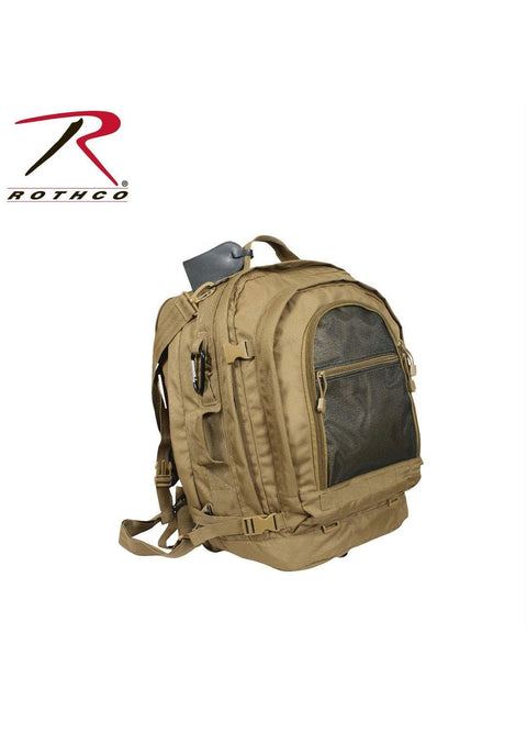 best Rothco Move Out Tactical/Travel Backpack Coyote Brown