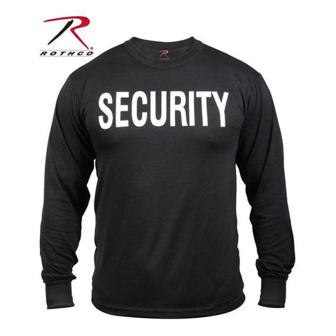 best Rothco 2-Sided Security Long Sleeve T-Shirt 3XL