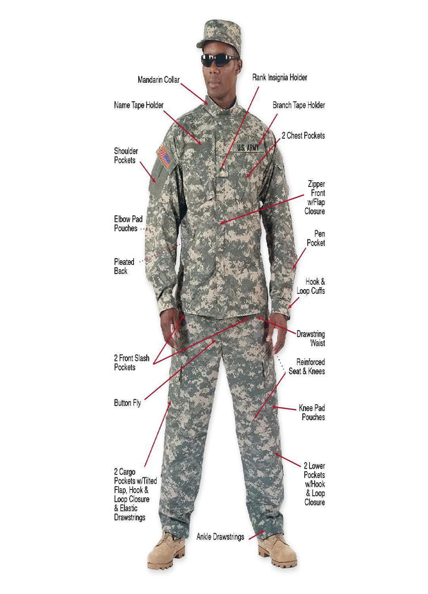 best Rothco Army Combat Uniform Shirt