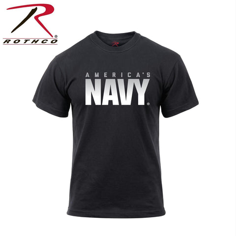 Rothco Athletic Fit America's Navy T-Shirt Black 3XL