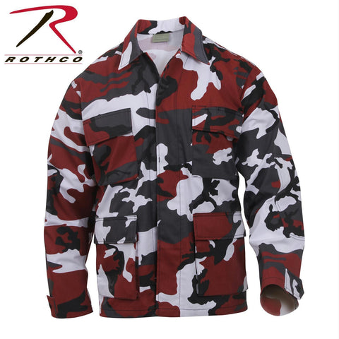 best Rothco Color Camo BDU Shirt Red Camo 2XL
