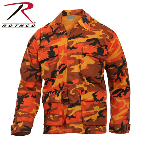 best Rothco Color Camo BDU Shirt Savage Orange Camo 2XL