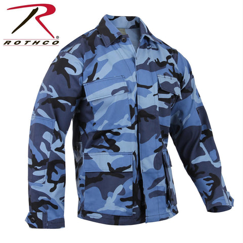 best Rothco Color Camo BDU Shirt Sky Blue Camo XS