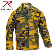 best Rothco Color Camo BDU Shirt Stinger Yellow Camo M