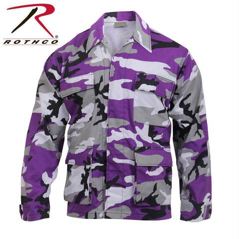 best Rothco Color Camo BDU Shirt Ultra Violet Camo 2XL