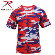 Rothco Colored Camo T-Shirts Red / White / Blue Camo XL
