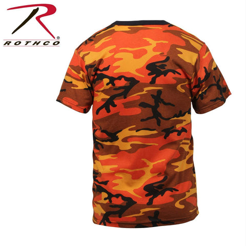 Rothco Colored Camo T-Shirts Savage Orange Camo 2XL