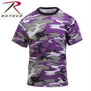 Rothco Colored Camo T-Shirts Ultra Violet Camo XS