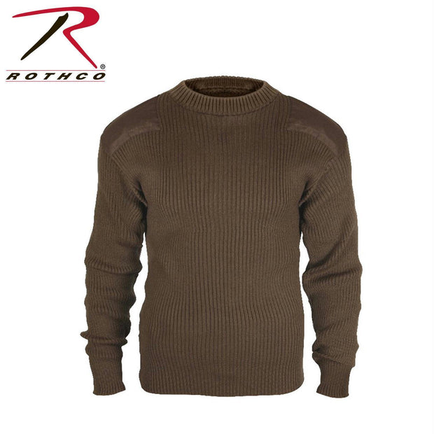 best Rothco G.I. Style Acrylic Commando Sweater Brown S