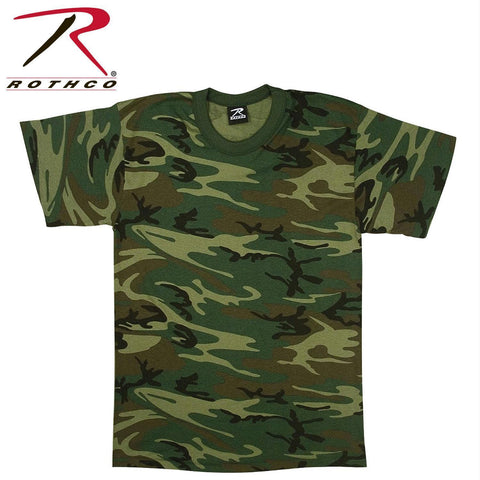 Rothco Heavyweight T-Shirt Woodland Camo XL