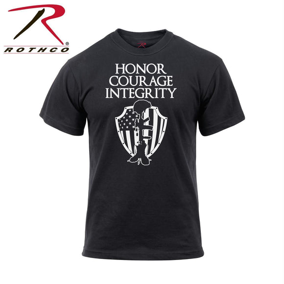 Rothco Honor Courage Integrity T-Shirt Black 3XL