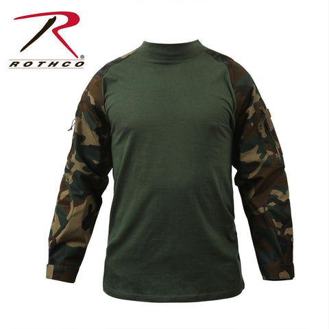 best Rothco Military FR NYCO Combat Shirt Woodland Camo 3XL