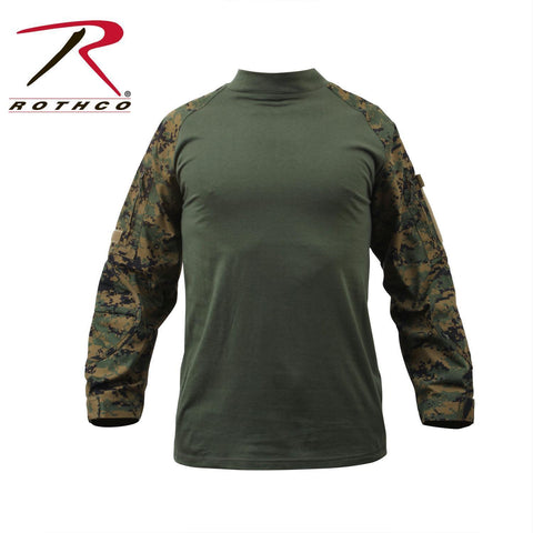 best Rothco Military FR NYCO Combat Shirt Woodland Digital Camo XL