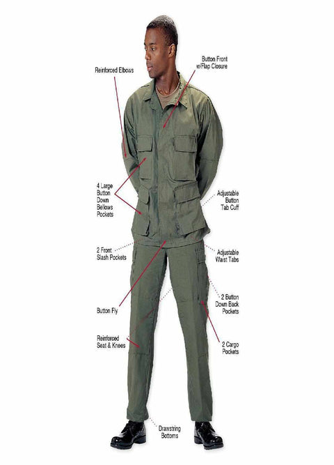 best Rothco Poly/Cotton Twill Solid BDU Shirts