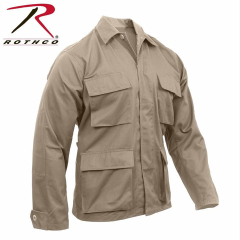 best Rothco Poly/Cotton Twill Solid BDU Shirts Khaki 2XL