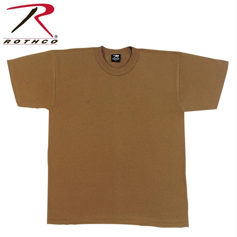 Rothco Solid Color Poly/Cotton Military T-Shirt Brown 2XL