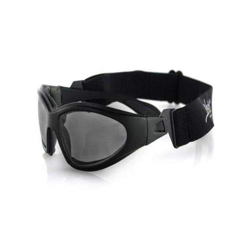 Bobster GXR Sunglasses-Matte Black Frame with Smoked Lens
