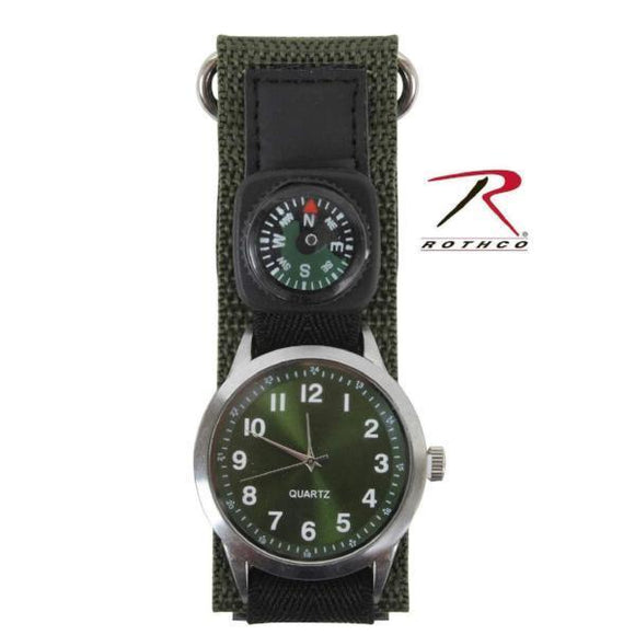best tactical Rothco Watch With Compass-Olive Drab One Size