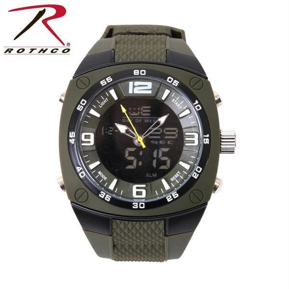 best tactical Rothco XLarge Military Style Analog & Digital Display Watch One Size