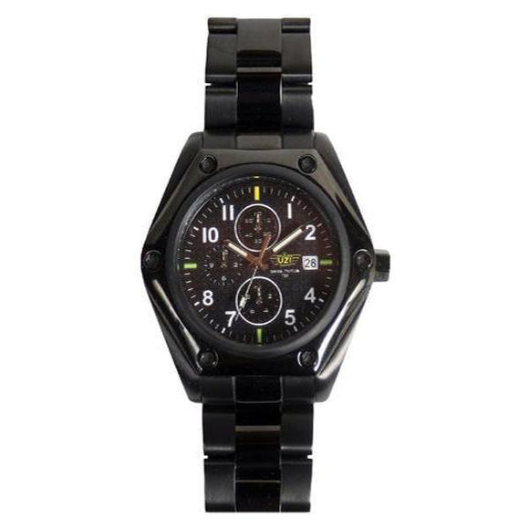 best tactical UZI Ballistic Chronograph Tritium Watch-Blck Dial Zulu Strap
