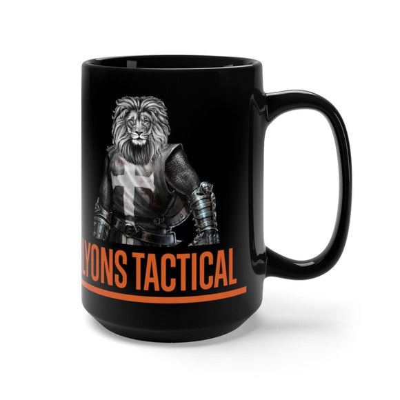 Black Lyons Tactical 15 oz Mug With Deuteronomy 31:6
