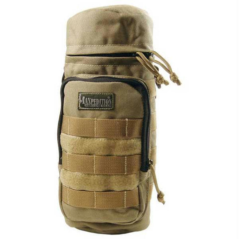 Maxpedition Bottle Holder 12.0 x 5.0 in Khaki Tactical Gear