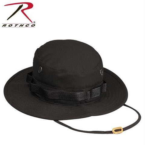Rothco 100% Cotton Rip-Stop Boonie Hat Black 7