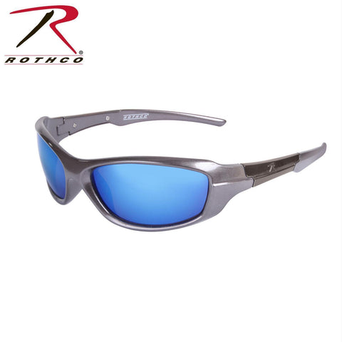 best tactical and police Rothco 9MM Sunglasses Blue / Mirror