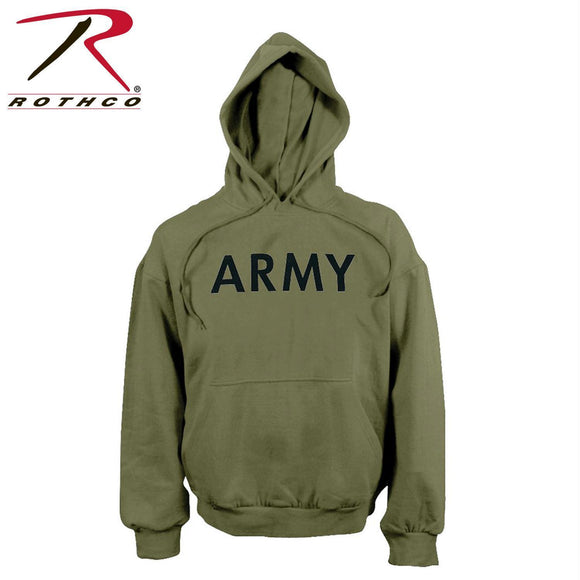 Rothco Army PT Pullover Hooded Sweatshirt Olive Drab S