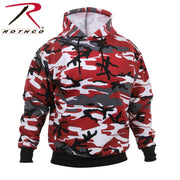 Rothco Camo Pullover Hooded Sweatshirt Red Camo 2XL