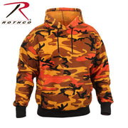 Rothco Camo Pullover Hooded Sweatshirt Savage Orange Camo XL