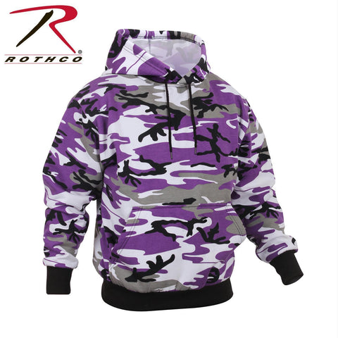 Rothco Camo Pullover Hooded Sweatshirt Ultra Violet Camo 3XL