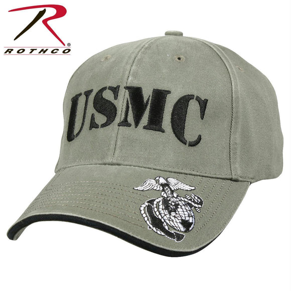 Rothco Deluxe Vintage USMC Embroidered Low Pro Cap Olive Drab One Size