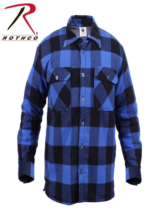Rothco Extra Heavyweight Buffalo Plaid Sherpa-lined Flannel Shirts