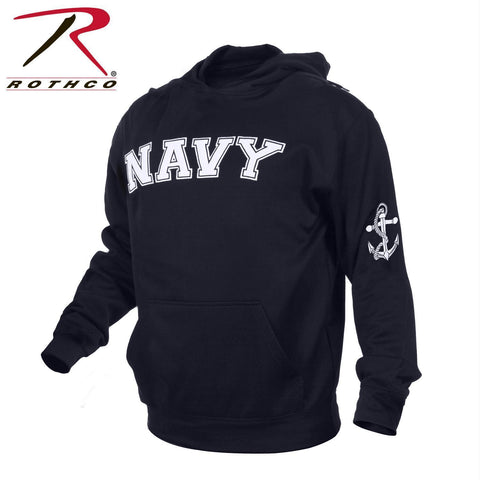 Rothco Military Embroidered Pullover Hoodies Navy 2XL