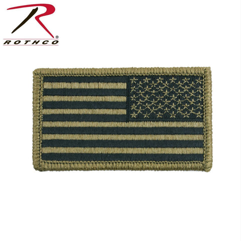 tactical and military Rothco OCP American Flag Patch With Hook Back Reverse